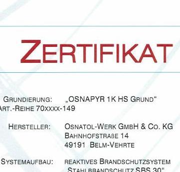 Beispiel eines Zertifikates